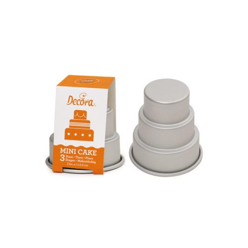Mini moules à gâteaux de mariage - ANODIZED ALUMINUM MINI WEDDING CAKE 3 TIERS