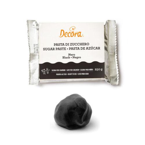 decora - pâte à sucre noire 250 G