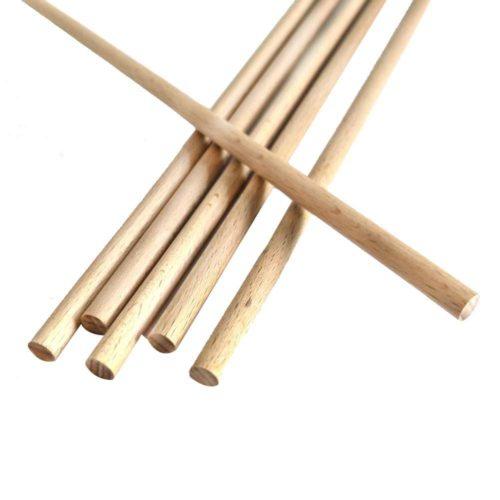 12 Chevilles en bois de bouleau - battons - bâtonnets en bois pour aliments