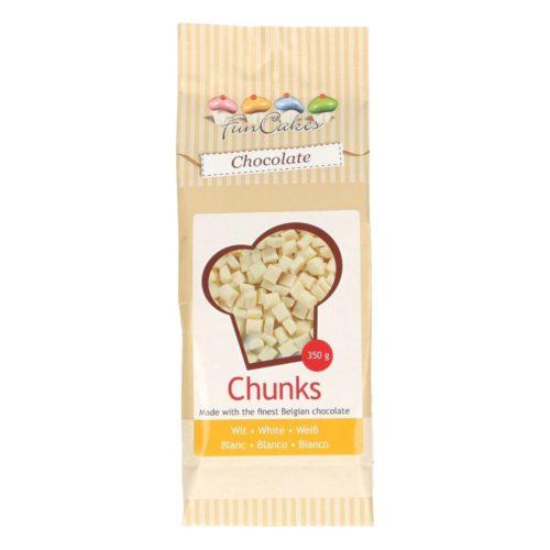 FunCakes  PROMO!!!White Chocolate Chunks - Pépites Chocolat Blanc -350g-
