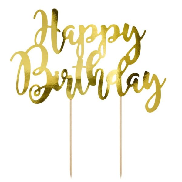 Cake Topper Happy Birthday - Or