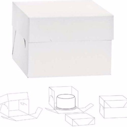 CAKE BOX 30,5X30,5X25H CM - Boite à gâteau 30.5*30.5*25H cm