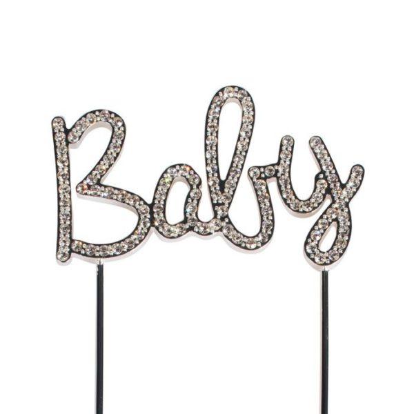 Cake topper en diamant Baby - Décor Gâteau Diamant Baby