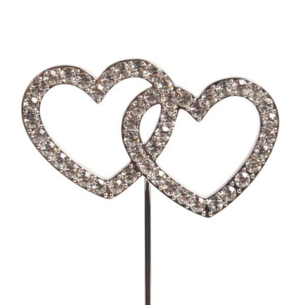Décoration en forme de cœurs enlacés - Cake Star Décor Gâteau Diamant Cœurs enlacés