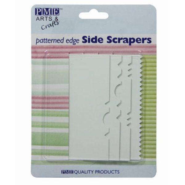 Lisseurs de côtés au bord à motifs set de 4- Patterned edge Side scrapers set/4