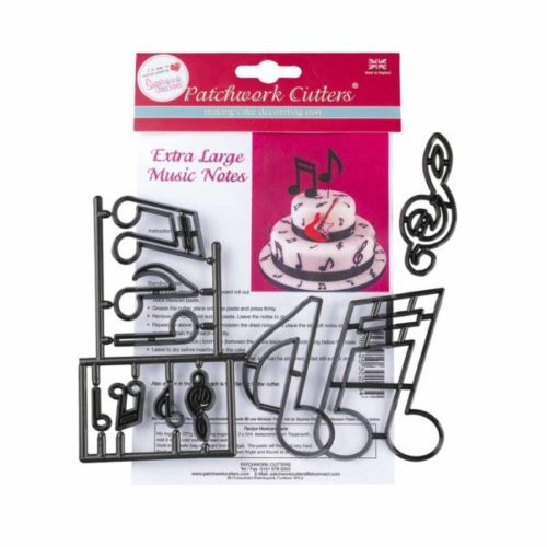Découpoir 10 notes de musique et une clef musicale - emporte pièce music notes Patchwork Cutter Extra Large Music Notes