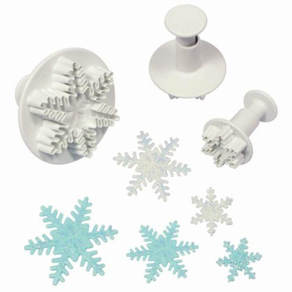 Découpoir poussoir flocon de neige  - Snowflake Plunger Cutter set/3