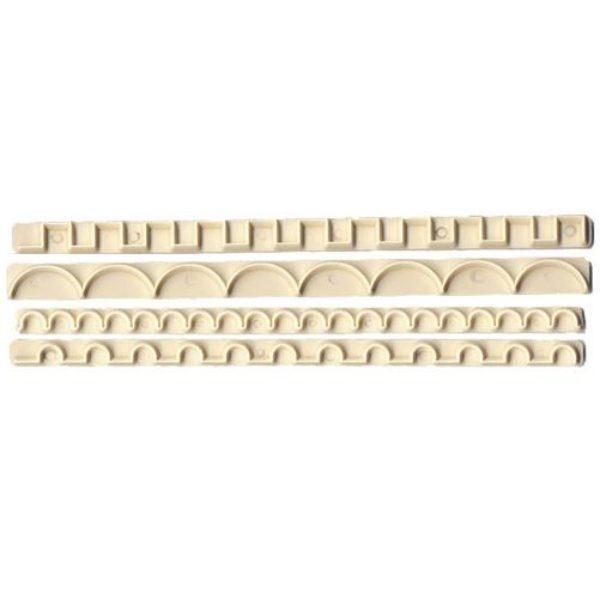 Emporte-pièces pour bords décoratifs SET DE 4 - straight frill cutters no. 3