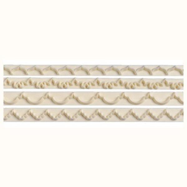 Emporte-pièces pour bords décoratifs SET DE 4 -  frill cutters no. 1
