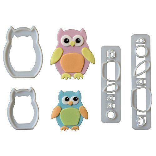 Emporte-pièces en forme de PROMO!!!hibou maman et bébé - Mummy and baby owl cutter set