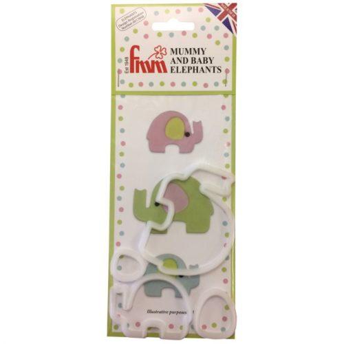 PROMO!!!Emporte-pièces pour une maman et son bébé éléphant - Mummy and baby elephants