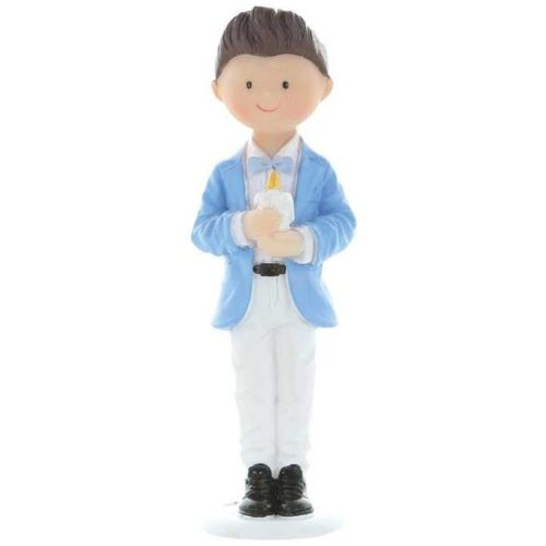 Décor Figurine Communion - Garçon avec Bougie