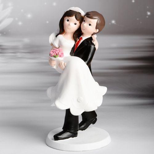 Figurine décorative Mariage - Jeunes mariés dans les bras - wedding cake