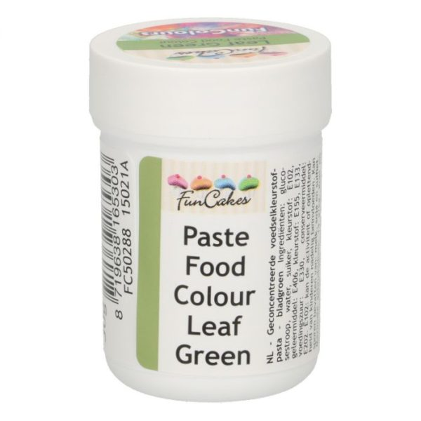 FunColours-Pâte colorante alimentaire - Paste Food Colour - Leaf green 30g-vert feuille