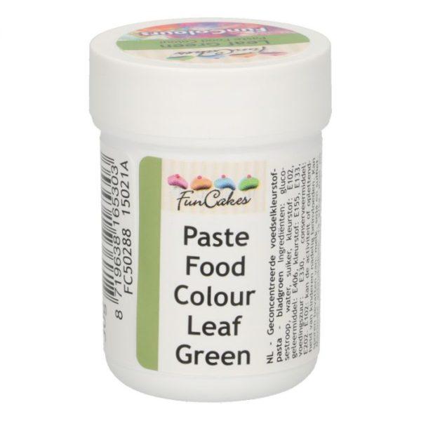 FunColours-Pâte colorante alimentaire - Paste Food Colour - Leaf green 30g-vert feuille