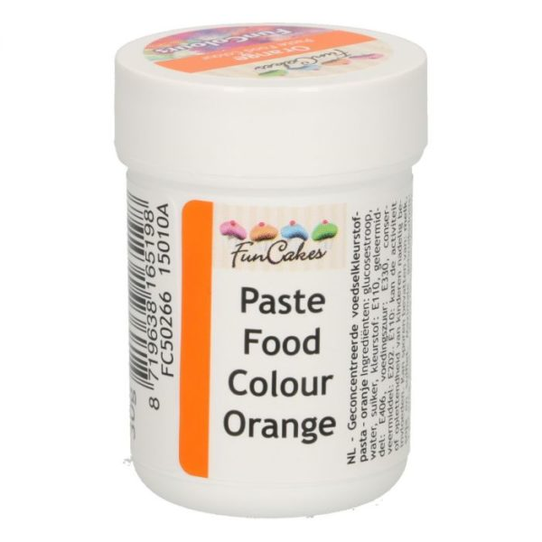 FunColours-Pâte colorante alimentaire - Paste Food Colour - Orange- 30g-