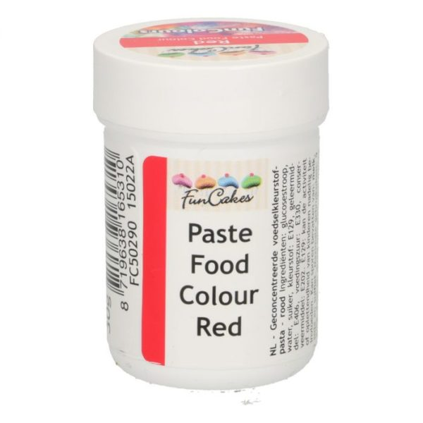 FunColours-Pâte colorante alimentaire - Paste Food Colour - Red- 30g-  Rouge