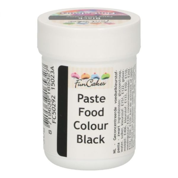 FunColours-Pâte colorante alimentaire - Paste Food Colour - Noire- 30g-  Black