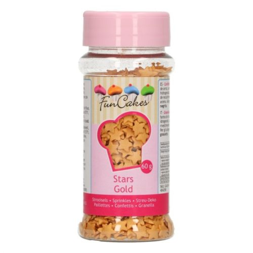 confettis Etoiles d'or - Gold stars confettis