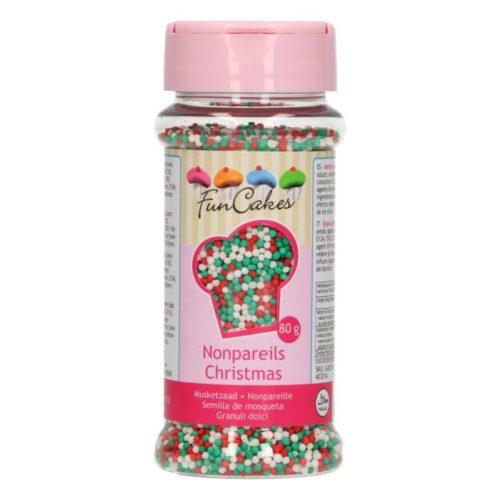 confettis blanc-rouge-vert (noel) - confettis red-green-white (Christmas)