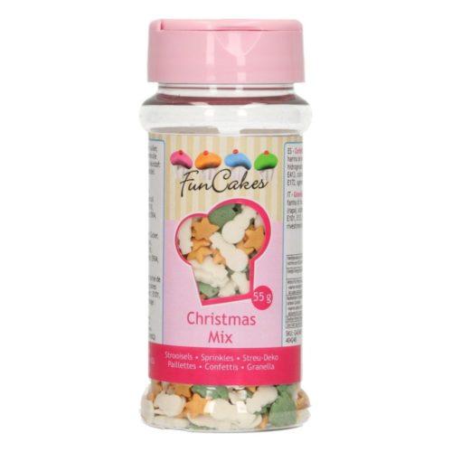 confettis mix (bonhomme de neige-sapin noël-étoile doré)