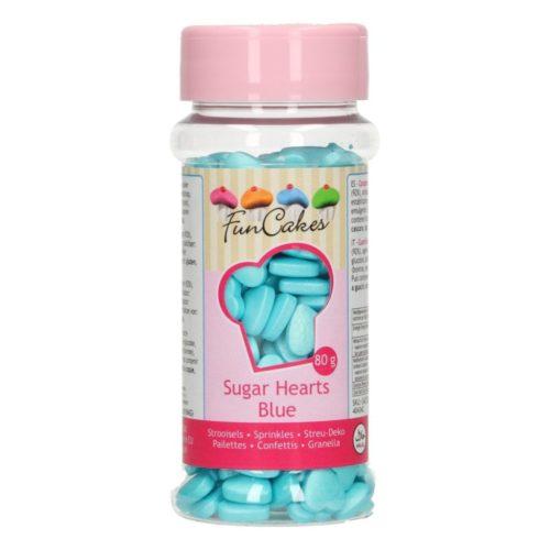 confettis cœur bleu - blue hearts sprinkles
