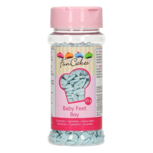 confetti pieds de bébé bleu - baby boy feet sprinkles