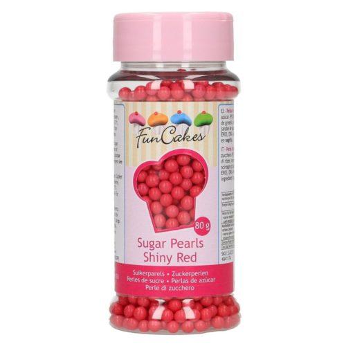 confetti perles rouges