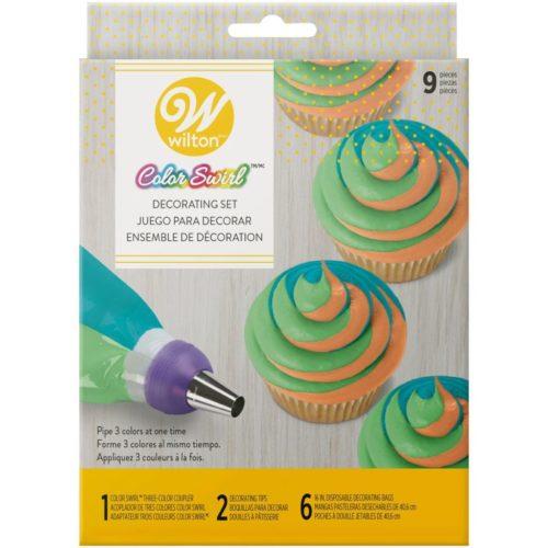 Coupleur Décoratif ColorSwirl Tri-Color Set/9 - douilles et poches a douilles tricolor