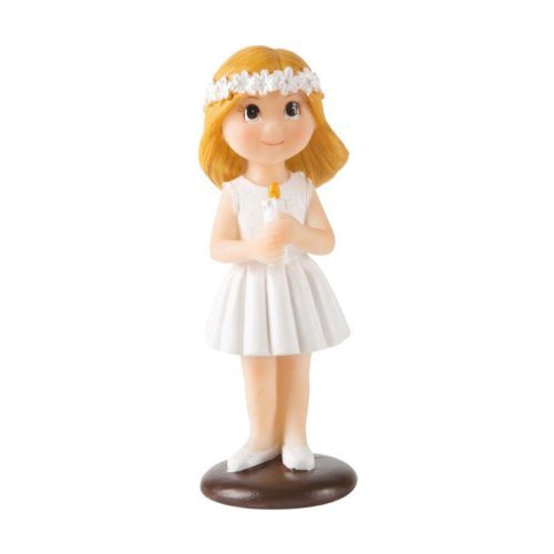 Décor Figurine Communion - Fille avec Bougie