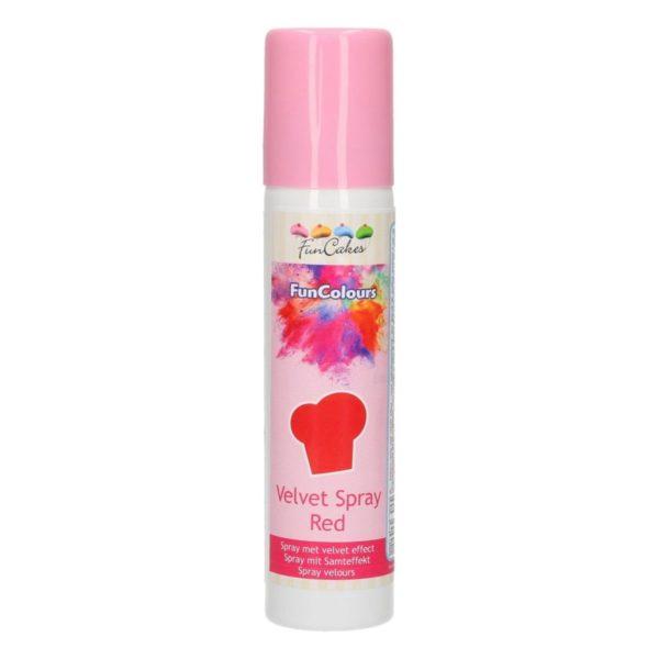 FunCakes Spray Velours FunColours -Rouge- 100mL