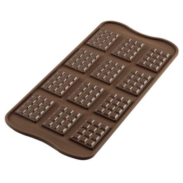 SILIKOMART MOULE À CHOCOLAT en forme de TABLETTE
