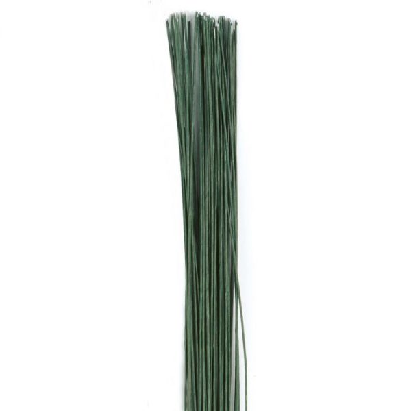 Fil floral vert -  Floral Wire Dark Green set/20 -22 gauge