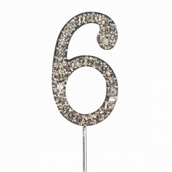 Cake topper en diamant numero 6 - Cake Star Cake Topper Diamante Number 6