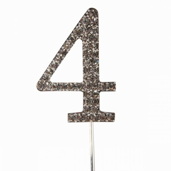 Cake topper en diamant numero 4 - Cake Star Cake Topper Diamante Number 4