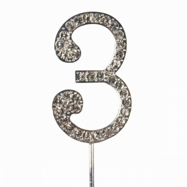 Cake topper en diamant numero 3- Cake Star Cake Topper Diamante Number 3